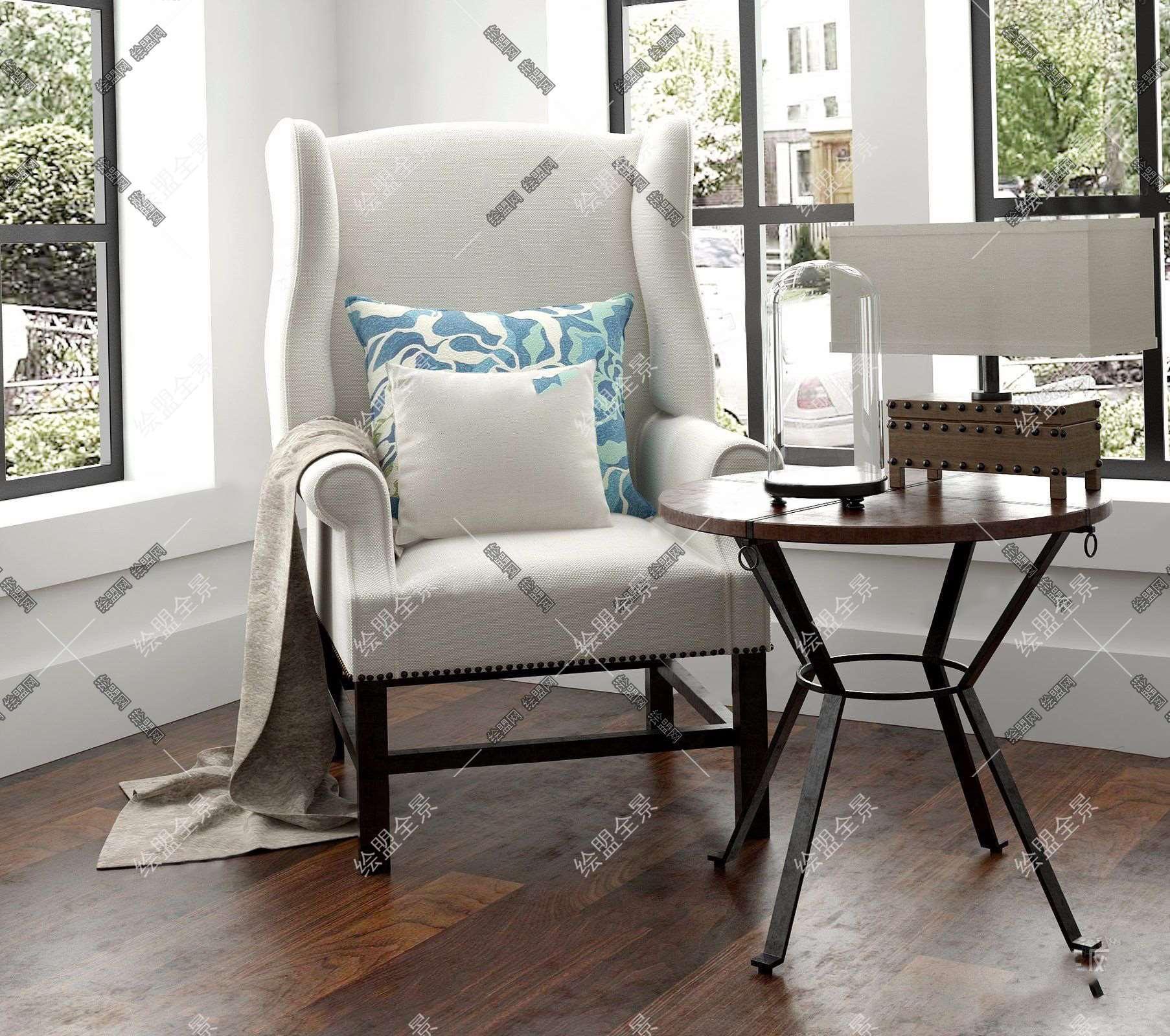 美式休闲沙发图片