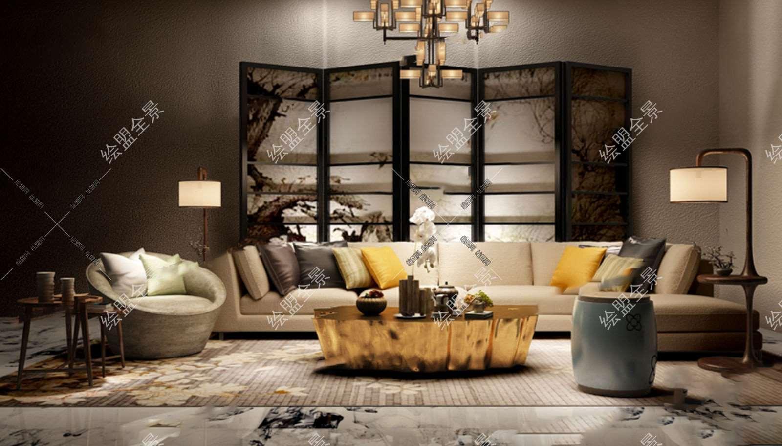 新中式欧式结合沙发