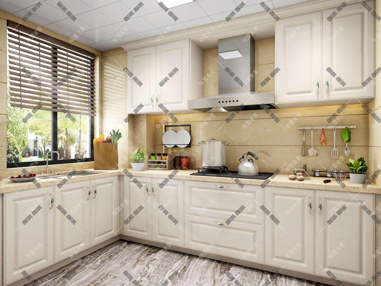 绘盟网 模型交易 家装空间 厨房 现代厨房3d模型  客厅餐厅卧室儿童房